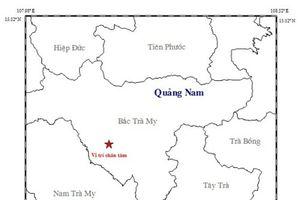 Tiếp tục xảy ra động đất tại khu vực miền núi Quảng Nam