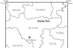 Hai trận động đất liên tiếp tại Quảng Nam