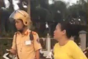 Công an TP Bà Rịa mời người phụ nữ lăng mạ CSGT lên làm việc