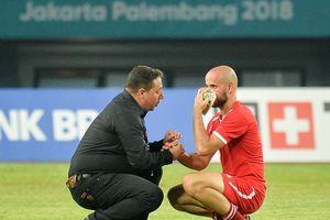 Cầu thủ Palestine bật khóc sau khi bại trận trước Syria