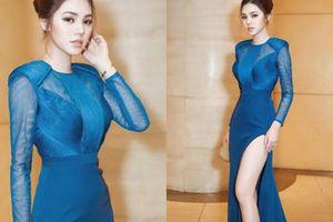 Váy xẻ cao tới hông, hoa hậu nhà giàu Jolie Nguyễn 'đốt mắt' khán giả Hàn