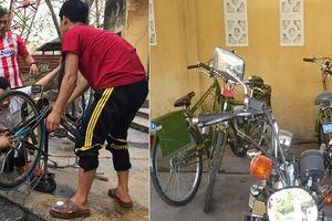 Sinh viên sửa xe cũ cho trẻ em nghèo, DN tặng xe cho công an để 'phủ bụi'