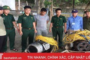 Bắt giữ 2 tàu giã cào dùng kích điện khai thác hải sản