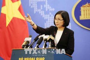 Việt Nam yêu cầu chấm dứt ngay các hoạt động tập trận bắn đạn thật tại đảo Ba Bình