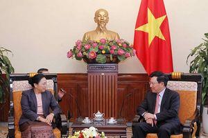 Đưa quan hệ hợp tác giữa Việt Nam-Lào tiếp tục đi vào chiều sâu