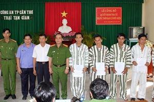 12 phạm nhân được tha tù trước thời hạn