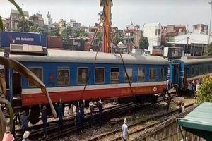Tàu hỏa lại trật bánh ở Bình Thuận