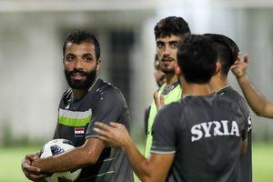 Cầu thủ Syria vui vẻ tập luyện trước khi gặp Olympic Việt Nam