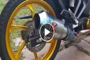 Yamaha Exciter độ pô khủng, nổ như công nông