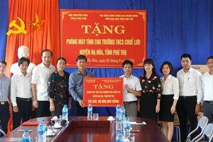 Hội khuyến học Phú Thọ trao tặng nhiều thiết bị cho trường học