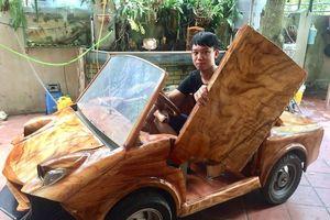 9X Hà Nội thiết thành công 'siêu xe' Lamborghini bằng gỗ, được trả giá 50 triệu đồng