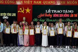 Quảng Trị: Trao giải thưởng 'Bông sen hồng' lần thứ 11 cho 26 cá nhân tiêu biểu
