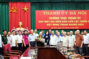 Thành ủy Hà Nội gặp mặt đại diện Ban liên lạc chiến sĩ Việt Minh thành Hoàng Diệu