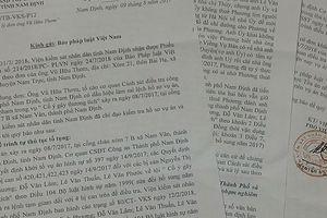 Nghi vấn về dấu hiệu làm sai lệch hồ sơ trong vụ án ở Nam Trực: 'Do sai sót lỗi đánh máy'