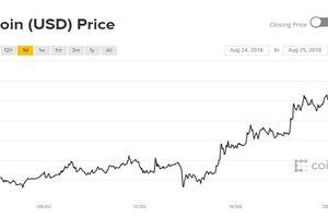 Giá Bitcoin một mạch tiến lên ngày cuối tuần