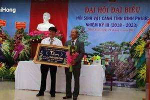 Đại hội đại biểu Hội Sinh Vật Cảnh tỉnh Bình Phước: Nâng cao hiệu quả kinh tế, văn hóa, xã hội, khoa học sinh vật cảnh