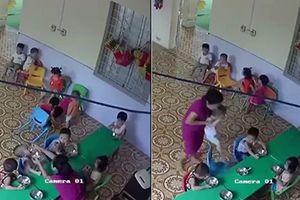 Phẫn nộ trước cảnh cô giáo mầm non nhồi thức ăn cho trẻ mầm non như nhồi vịt