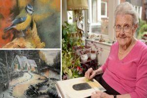 Cụ bà 95 tuổi trổ tài vẽ tranh 'tuyệt đỉnh'