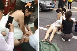 Ngưỡng mộ cô dâu bỏ ngang buổi chụp ảnh cưới để cứu người