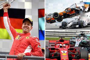 Grand Prix nước Bỉ: Vettel thắng ngoạn mục, Leclerc suýt chết dưới bánh xe Alonso