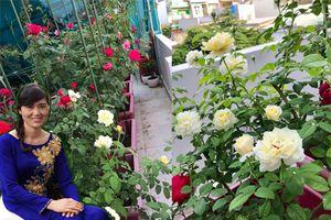 Chiêm ngưỡng vườn hồng 40m2 lung linh trên cao của nữ giảng viên ở Sài Gòn