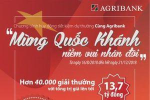 Agribank triển khai huy động tiết kiệm dự thưởng tổng trị giá 13,7 tỷ đồng