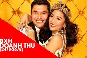 BXH doanh thu Bắc Mỹ (24-26/8): Không có đối thủ nặng ký, 'Crazy Rich Asians' tiếp tục dẫn đầu với 25 triệu USD!