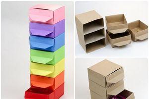 Tự tay làm ngăn kéo theo phong cách gấp giấy Origami