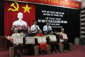 Phúc Thọ trao Huy hiệu Đảng cho 189 đảng viên