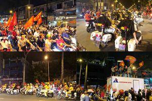 U23 Việt Nam chiến thắng: Cảnh sát TP HCM trắng đêm... 'xuống đường'