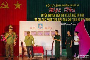 Bộ CHQS Nghệ An đạt giải xuất sắc Hội thi Tuyên truyền viên trẻ về Lời Bác Hồ dạy