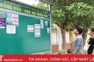 TP Hà Tĩnh tạo 'sân riêng' cho quảng cáo vặt