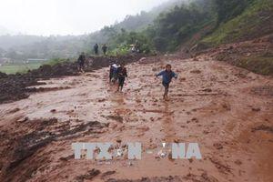 Mưa lũ gây ách tắc cục bộ nhiều tuyến đường quan trọng ở Điện Biên