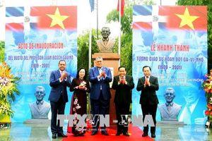Khánh thành tượng đài Giáo sư Juan Bosch tại Công viên Hòa Bình, Hà Nội
