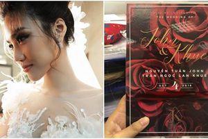 Chính thức lộ diện thiệp cưới của Lan Khuê cùng chồng đại gia