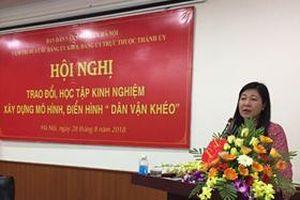 Đảng ủy Khối các trường cao đẳng, đại học Hà Nội trao đổi kinh nghiệm xây dựng mô hình, điển hình 'dân vận khéo'