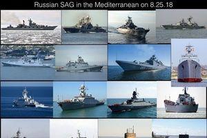 Nga điều nhóm tàu hải quân lớn nhất từ trước đến nay áp sát Syria