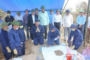Ban chỉ đạo Quốc gia 515 kiểm tra công tác tìm kiếm, quy tập hài cốt liệt sỹ tại Nghệ An