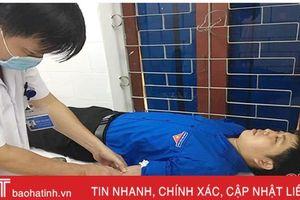 Bí thư Đoàn xã ở Hà Tĩnh lần thứ 7 hiến máu cứu người