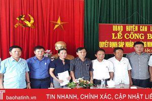 Can Lộc công bố quyết định sáp nhập 8 trường học còn 4