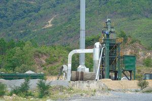 Tiếp bài 'Quảng Bình: Trạm trộn bê tông chưa có giấy phép đã ngang nhiên hoạt động?': Đình chỉ hoạt động trạm trộn bê tông