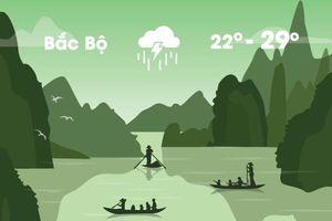 Thời tiết ngày 30/8: Bắc Bộ mưa lớn