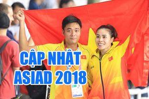 Cập nhật mới nhất ASIAD 2018 tối 30.8: Sau ngày 'bội thu', Việt Nam chỉ giành 2 HCĐ và tiếp tục tụt hạng