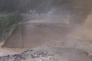 Vân Hồ - Sơn La: Sập mố cầu tại tỉnh lộ 101, 4 xã bị cô lập hoàn toàn