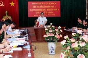 Bộ Chính trị kiểm tra Đảng ủy Quân đoàn 3