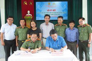 Liên đoàn Lao động và CATP Đà Nẵng ký kết Quy chế phối hợp đảm bảo an ninh trật tự
