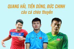 Quang Hải, Đức Chinh, Tiến Dũng đi câu cá để giải tỏa áp lực