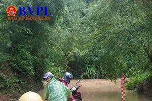 Mưa lớn gây ngập lụt tại huyện Tương Dương