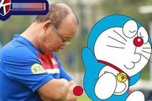 Phì cười trước loạt khoảnh khắc của HLV Park Hang Seo được cosplay y chang chú mèo máy Doraemon