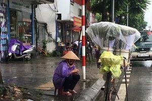 Đội mưa, gom từng đồng bạc lẻ ngày mưa gió trên đường phố Hà Nội